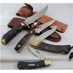 4 knives: 2 Old Timer, 2 Schrade