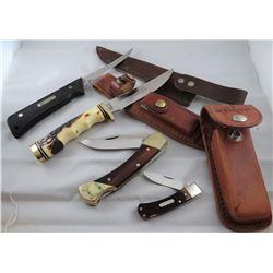 4 knives: 2 Schrade, 1 Old Timer, 1 Uncle Henry