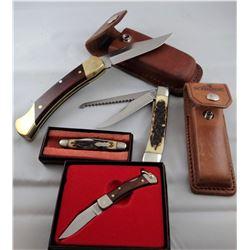 4 pocket knives: 3 Uncle Henry, 1 Schrade