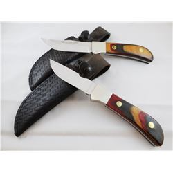 """(2) Winchester Knives: #670, made 1990 -NIB; #680 -3.5"""" 680, made in 1990 appears used, 4"""", both she"""
