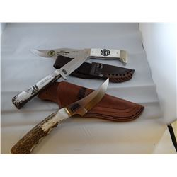 3 knives, NRA, Silver Stag
