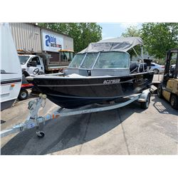 LUND RENEGADE 1650 16.5' ALUMINUM FISHING BOAT WITH EVINRUDE E-TEC 60 HP OUTBOARD MOTOR AND