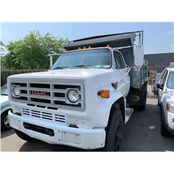 1989 GMC 7000 FUEL INJECTION, 2DR DUMP TRUCK, WHITE, VIN # 1GDL7D1P5KV522068