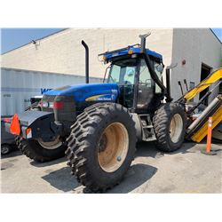2009 NEW HOLLAND TV 6070 TRACTOR WITH US MOWER FLAIL MOWER