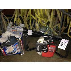 GAS AUGER, STIHL GAS LEAF BLOWER & ELECTRIC CAR BUFFER