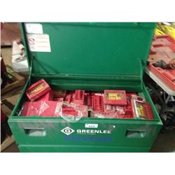 """GREENLEE 2448 CHEST 25"""" X 48"""" X 24"""" JOB CABINET WITH ASSORTED LOCK BOXES"""