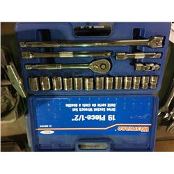 WESTWARD METRIC 19 PCS DRIVE SOCKET SET