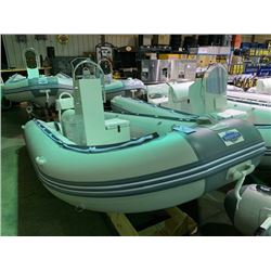 15' BAKERVIEW ALU-460DL 9 PERSON 50HP MAX PVC INFLATABLE ALUMINUM BOTTOM BOAT HAS TOWER STYLE