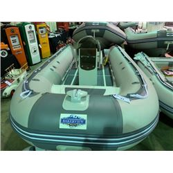 14' BAKERVIEW ALU-420DL 8 PERSON 40HP PVC INFLATABLE ALUMINUM BOTTOM BOAT WITH JET-SKI STYLE