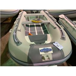 12' BAKERVIEW ALU-360DL 7 PERSON 30HP PVC INFLATABLE ALUMINUM BOTTOM BOAT WITH FLAT FLOOR