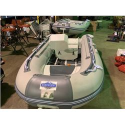 10' BAKERVIEW ALU-300DL 6 PERSON 15HP PVC INFLATABLE ALUMINUM BOTTOM BOAT WITH FLAT FLOOR AND BOW