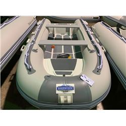 11' BAKERVIEW ALU-330DL 6 PERSON 25HP MAX PVC INFLATABLE ALUMINUM BOTTOM BOAT WITH FLAT FLOOR AND