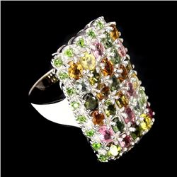 Natural Fancy Tourmaline Diopside 56.20 Ct Ring