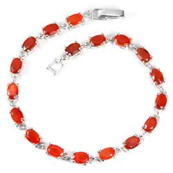 NATURAL AA ORANGE FIRE OPAL OVAL Bracelet
