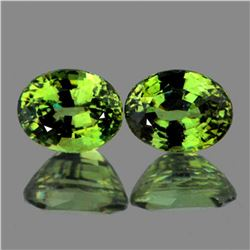 Natural Premium Green Demantoid Pair - FL
