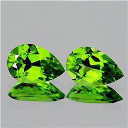 Natural Top Green Peridot Pair 12x8 MM {Flawless-VVS1}