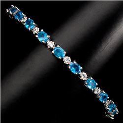 Natural Brazil Neon Blue Apatite Bracelet