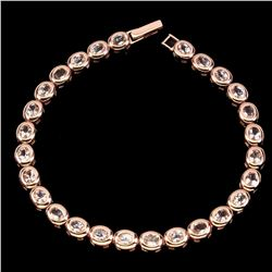 Natural Rare Oval 6x4mm Pink Morganite Bracelet
