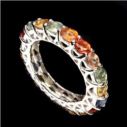 Natural Top Fancy Colors Sapphire Ring