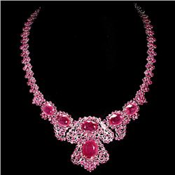 Natural Top Red Pink Ruby 413.57 Cts Necklace