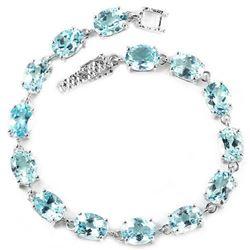 Natural AAA SKY BLUE TOPAZ 8X6 MM. Bracelet
