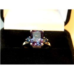 5.20 CT RUSSIAN ALEXANDRITE LAB CREATED RING