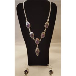 BEAUTIFUL 42 CT AMETHYST NECKLACE.