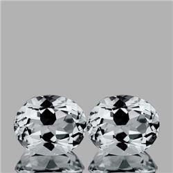 Natural Diamond White Aquamarine Pair 12x10 MM - FL