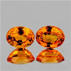 NATURAL ORANGE SAPPHIRE PAIR [FLAWLESS-VVS]