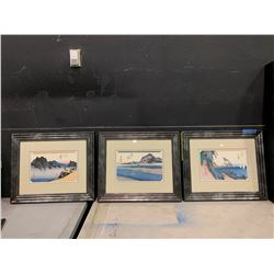 3 PCS OF AUTHENTIC WOODBLOCK JAPANESE PRINTS