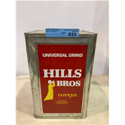 VINTAGE HILLS BROS COFFEE TIN