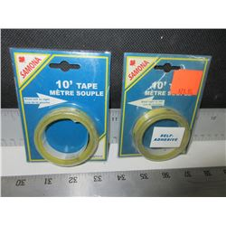 2 New 10 ft Self-Adhesive Measuring Tape / great for Table Saw/Chop Saw