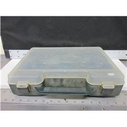 Storage case with dividers / 2 secure latches / 10 x 14 x 3""