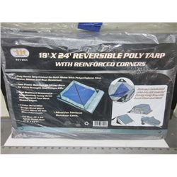 New 18 x 24 foot Reversable Poly Tarp