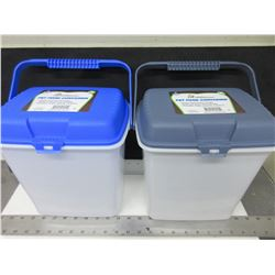 2 Pet Food Containers / keeps food fresh longer / seals out pests & humidity