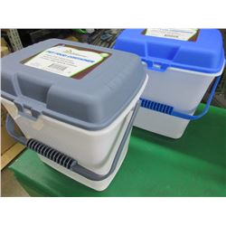 2 New Pet Food Bins with Lids 2 Gallon / keep food fresh and pests out