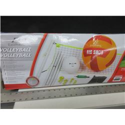 Vollyball or Badminton Net / comes with Ball ,  poles  , rope and net