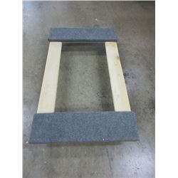 """Carpeted Furniture Dolly on 4 swivel  3"""" Castors / 18 x 30"""""""