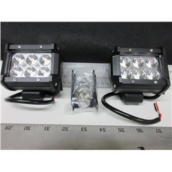 New pair of 6 LED Off Road Lights / 1800 lumens