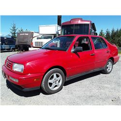 "A3 --  1997 VW JETTA , Red , UNKNOWN  KM's ""No Reserve"""