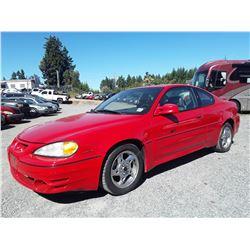 A8 --  2002 PONTIAC GRAND AM GT , Red , 150282  KM's