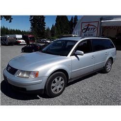 "A1 --  2001 VW PASSAT , Grey , 291177  KM's ""No Reserve"""