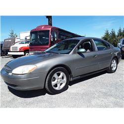 "A4 --  2001 FORD TAURUS SE , Green , 237815  KM's ""No Reserve"""