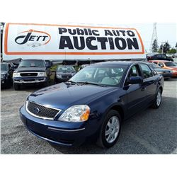 B5 --  2005 FORD 500 SE , Blue , 151590  KM's