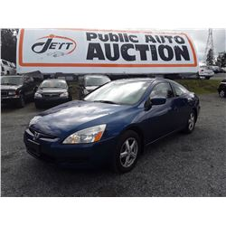 C4 -- 2003 HONDA ACCORD EX COUPE, BLUE, 280,934 KMS