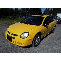 D4 --  2003 DODGE SX , Yellow , 134994  KM's