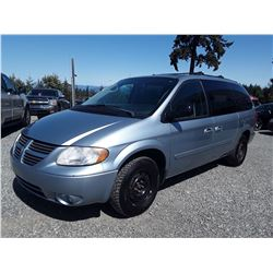 D6 --  2005 DODGE GRAND CARAVAN SXT , Blue , 261027  KM's