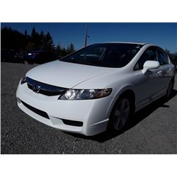 E1 --  2010 HONDA CIVIC LX , White , 150250  KM's