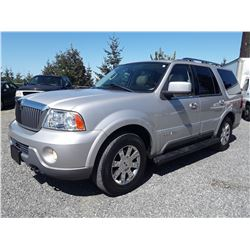 G4 --  2003 LINCOLN NAVIGATOR SUV, GREY, 176,692 KMS DEC'S, X-LEASE