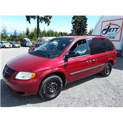 G2 --  2006 DODGE CARAVAN SE , Red , 139400  KM's